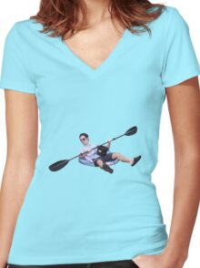 Row Boat Women's Fitted V-Neck T-Shirt