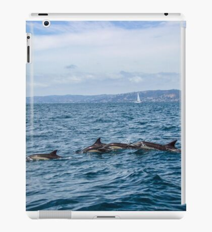 Dolphins and Sail Boats iPad Case/Skin