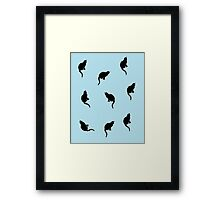 Black And Blue Cats Framed Print