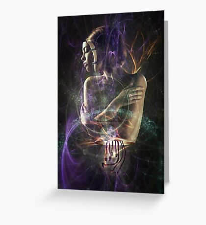 Abstract Fractal Android Greeting Card