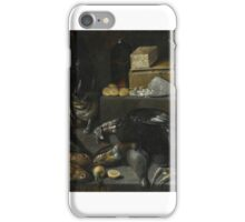 Francisco Barrera AN ALLEGORY OF THE MONTH OF DECEMBER, WITH A CAT AND A STILL LIFE OF FOWL, FISH, iPhone Case/Skin