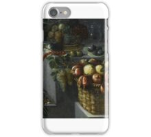 Francisco Barrera AN ALLEGORY OF THE MONTH OF OCTOBER, WITH A STILL LIFE OF BASKETS OF POMEGRANATES, iPhone Case/Skin