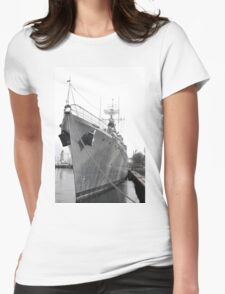 HMCS Haida Bow On Womens Fitted T-Shirt