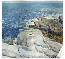 Vintage famous art - Childe Hassam - The South Ledges, Appledore Poster