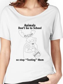 Stop Animal Testing  Women's Relaxed Fit T-Shirt