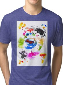 Abstract Ink Tri-blend T-Shirt