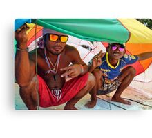 Parasail Boys Canvas Print