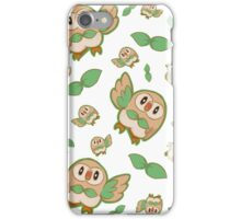 Rowlet Pattern iPhone Case/Skin