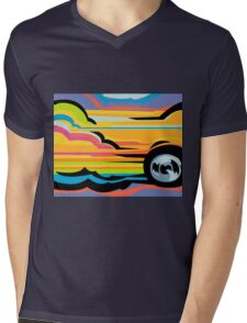 Fast Car - Abstract Graphic Mens V-Neck T-Shirt