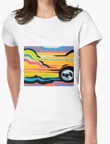 Fast Car - Abstract Graphic Womens Fitted T-Shirt