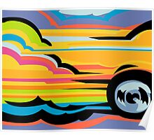 Fast Car - Abstract Graphic Poster