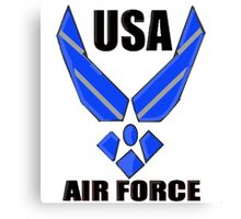 US AIR FORCE LOGO Canvas Print