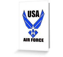 US AIR FORCE LOGO Greeting Card