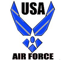 US AIR FORCE LOGO Photographic Print