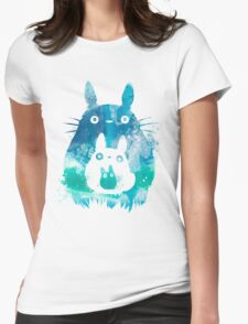 My Neighbor Totoro Watercolor  Womens Fitted T-Shirt