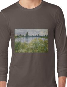 Claude Monet - Banks Of The Seine, Vétheuil 1880 Long Sleeve T-Shirt