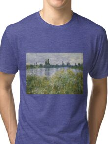 Claude Monet - Banks Of The Seine, Vétheuil 1880 Tri-blend T-Shirt