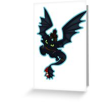 Toothy flight Greeting Card