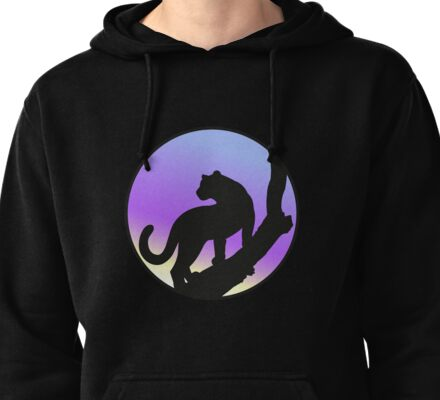 Cougar on a tree Pullover Hoodie
