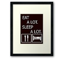 funny, eat and sleep Framed Print