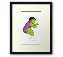 Toddler Smash! Framed Print