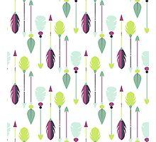 Tribal arrow seamless pattern. Photographic Print