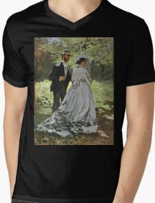 Claude Monet - Bazille And Camille 1865 Mens V-Neck T-Shirt