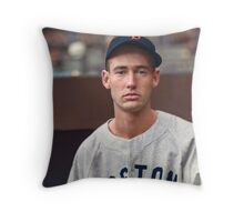 Ted Williams - Colorized Portrait Throw Pillow