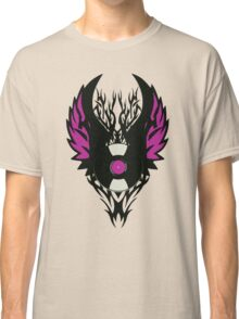 Vinyl Record Retro Punk Spikes Tribal with Wings - Purple Design Classic T-Shirt