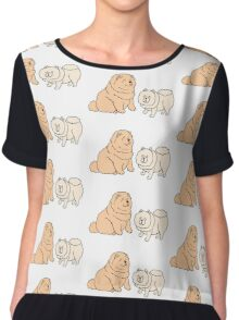 Chow Chow Dog Couple Chiffon Top