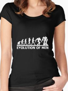 Human and evolution Women's Fitted Scoop T-Shirt
