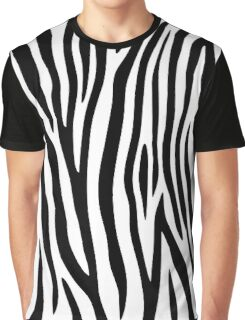 Zebra stripes black and white abstract background. Graphic T-Shirt