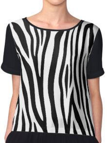 Zebra stripes black and white abstract background. Chiffon Top