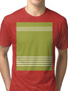 Trendy Lime Green and White Stripes Design Tri-blend T-Shirt
