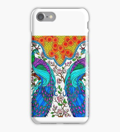 Peacock Twins iPhone Case/Skin