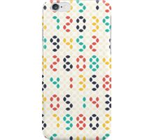 Abstract geometric spindle shape led numbers  iPhone Case/Skin