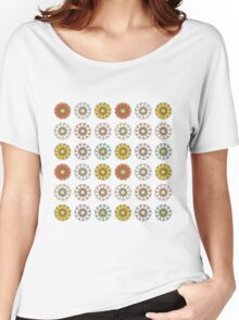 Trendy Colorful Floral Design  Women's Relaxed Fit T-Shirt