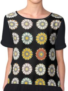 Trendy Colorful Floral Design  Chiffon Top