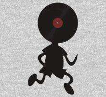 Vinyl Man! Vinylized!!! Vinyl Records DJ Retro Music Lovers T-Shirt Stickers Prints Kids Tee
