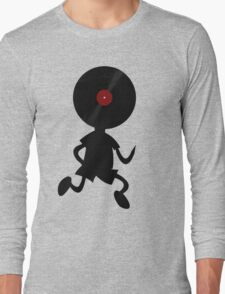 Vinyl Man! Vinylized!!! Vinyl Records DJ Retro Music Lovers T-Shirt Stickers Prints Long Sleeve T-Shirt