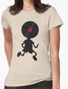Vinyl Man! Vinylized!!! Vinyl Records DJ Retro Music Lovers T-Shirt Stickers Prints Womens Fitted T-Shirt