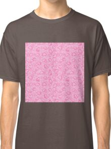 Abstract Hearts and Flowers Print Classic T-Shirt