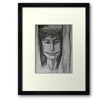 Roxanne - A Portrait Drawing Framed Print