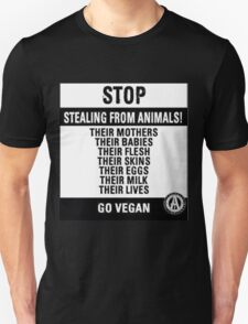 Stop Stealing From Animals T-Shirt
