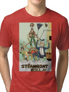 BUSTER KEATON STEAM BOAT BILL! Tri-blend T-Shirt
