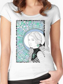 Cosmonaut girl cool Women's Fitted Scoop T-Shirt