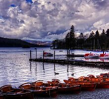 Boats at Bowness by Tom Gomez