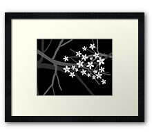 Sakura Cherry Tree Beautiful Oriental Vector Illustration Framed Print