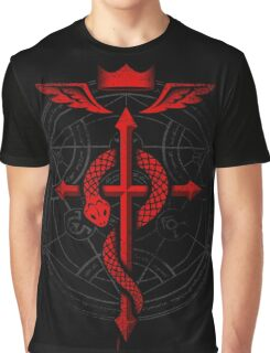 Full of Alchemy - Fullmetal Alchemist Flamel Graphic T-Shirt