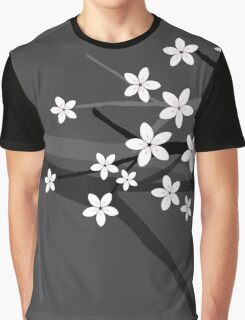 Sakura Cherry Tree Beautiful Oriental Vector Illustration Graphic T-Shirt